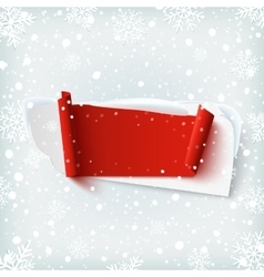 Blank abstract banner on winter background vector