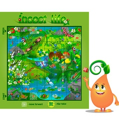 Board game insect life 2 vector