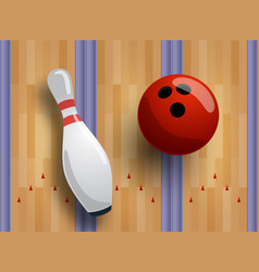 bowling pattern or banner concept bowling track vector image