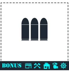 Bullets icon flat vector