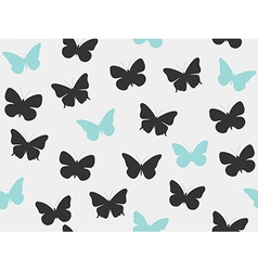 Butterfly seamless pattern set vector image