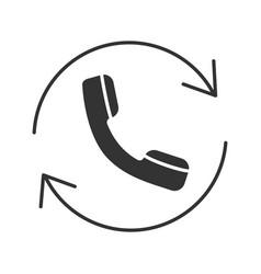 Calling glyph icon vector