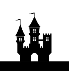 Castle Silhouette Icon on White Background vector image