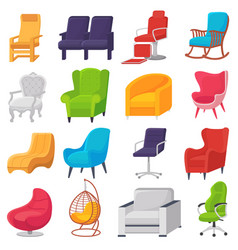 chair comfortable furniture armchair and vector image
