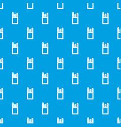Chalks in carton box pattern seamless blue vector