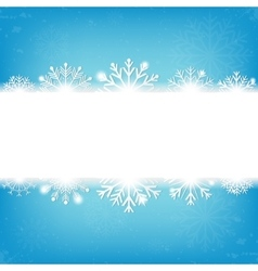 Christmas background with snowflakes and copyspace vector