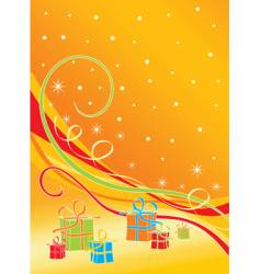 christmas backround vector image vector image