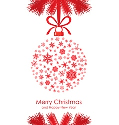 Christmas ball fir vector