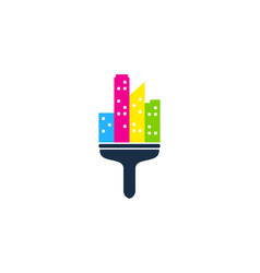 city paint logo icon design vector image