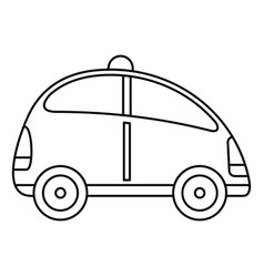 City self driving car icon outline style vector