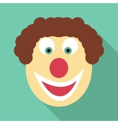 Clown icon flat style vector