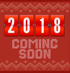 Coming soon 2018 new year concept of card on the vector