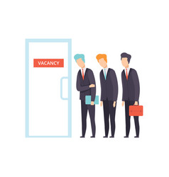 competition of people for jobs selection of vector image