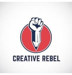 Creative Rebel Abstract Sign Symbol Icon vector