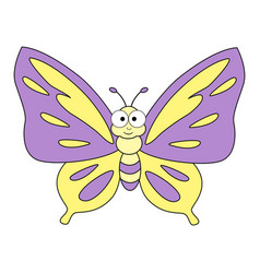 cute cartoon butterfly vector image