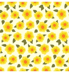 Ditsy floral pattern with small daffodils vector image