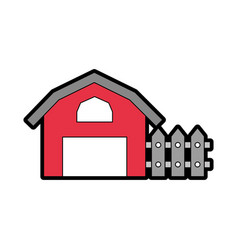 farm stable building icon vector image