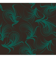 Floral seamless pattern blue and brown colors vector image vector image