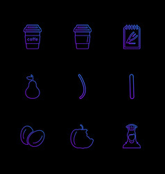 Food health nutrious healthy eps icons set vector