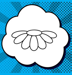Fower chamomile sign black vector