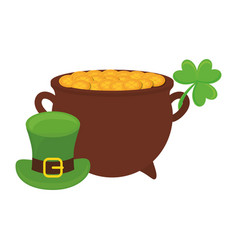 Gold pot design vector