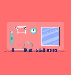 gym interior banner vector image