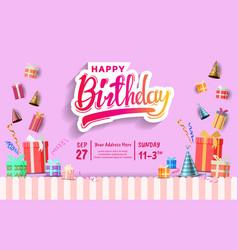 Happy birthday design with birthday element vector
