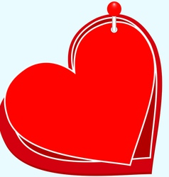 Hearts on the PIN vector image