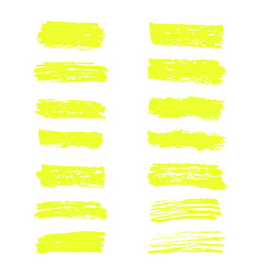 Highlighter brush lines hand drawing vector