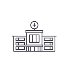 hospital line icon concept hospital linear vector image