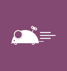 Icon on background clockwork mouse toy vector