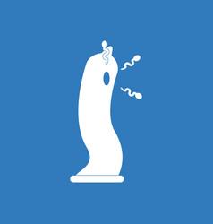 Icon on background condom silhouette vector