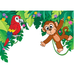 Image with jungle theme 5 vector