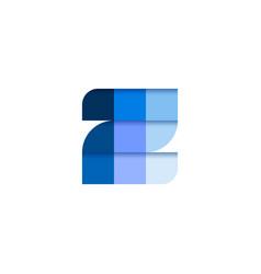 initial letter z square pixel logo design vector image
