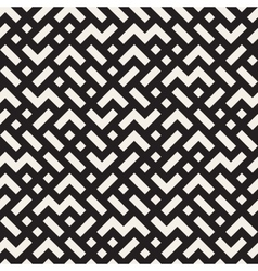 Irregular mazy lines seamless black and vector