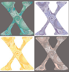 letter x vector image