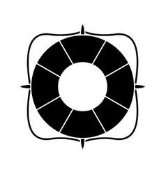 Life buoy marine symbol pictogram vector