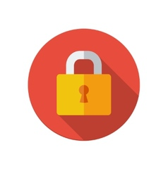 Lock icon vector