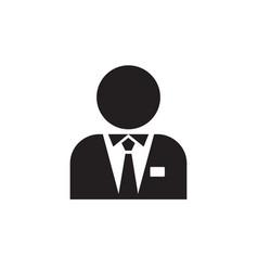 Man - black icon on white background vector