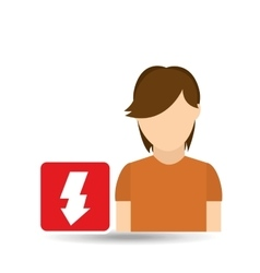 man with icon vector image