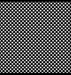 Monochrome repeating heart pattern background vector