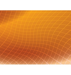 orange background with distorted grid vector image