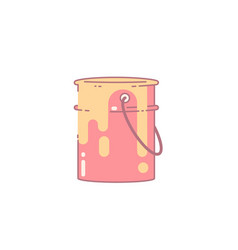 paint can flat vector image
