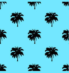 palm tree pattern seamless texture isolated on vector image