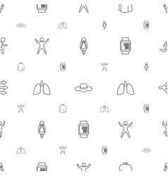 People icons pattern seamless white background vector