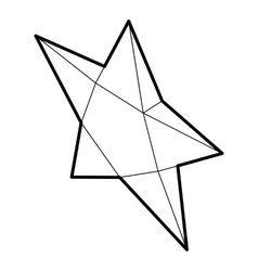 Pointed star icon outline style vector