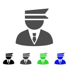Police officer flat icon vector