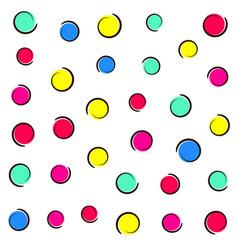 Pop art colorful confetti background vector