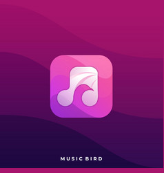 scale music icon application template vector image