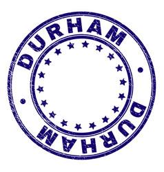 Scratched textured durham round stamp seal vector